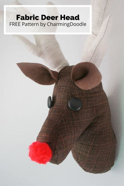 pattern for felt reindeer head 1000 images about sewing holidays on pinterest felt