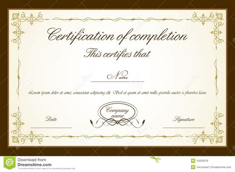 cer remodeling ideas certificate template royalty free stock photos image