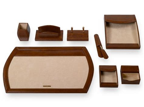 Executive Desk Accessories China Executive Desk Set Brown B4101 China Executive Desk Set Desk Set