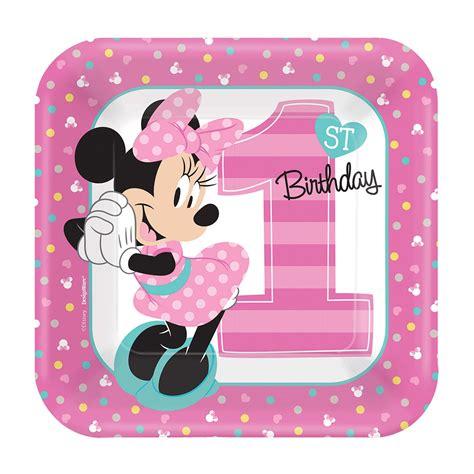 Car Set 8 In 1 Minnie 1 disney minnie mouse 1st birthday dessert plates 8 birthdayexpress