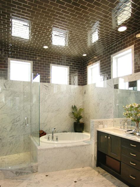 tiling to ceiling in bathroom photos hgtv