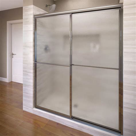 Basco Deluxe 44 In X 68 In Framed Sliding Shower Door In 44 Shower Door