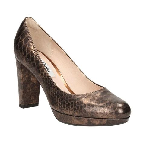 Sepatu Dari Merk Clarks jual clarks sepatu kendra snake lea high heels bronze harga kualitas