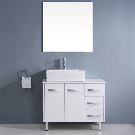 virtu usa tilda 40 inch white single sink white