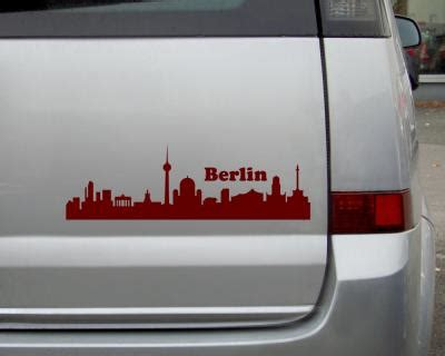 Sticker Bestellen Berlin by Berlin Skyline Aufkleber Sticker 25 Farben 9 Gr 246 223 En