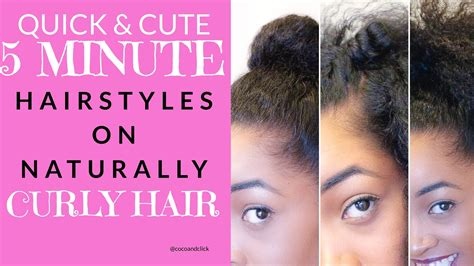 7 quick easy 5 minute hairstyles youtube quick cute 5 minute hairstyles on naturally curly hair