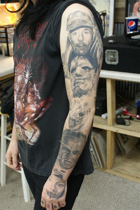 portrait sleeve tattoo designs horror tattoos designs ideas and meaning tattoos for you