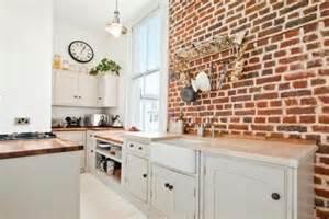 exposed brick kitchen kitchen