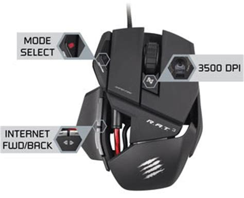 Mad Catz Rat 8 Gaming Mouse mad catz r a t 3 optical gaming mouse for pc and mac computers accessories