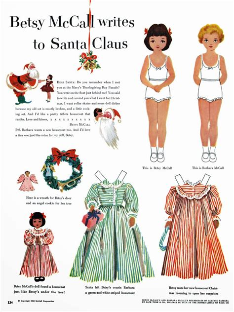 free printable santa paper dolls inkspired musings christmas with betsy mccall