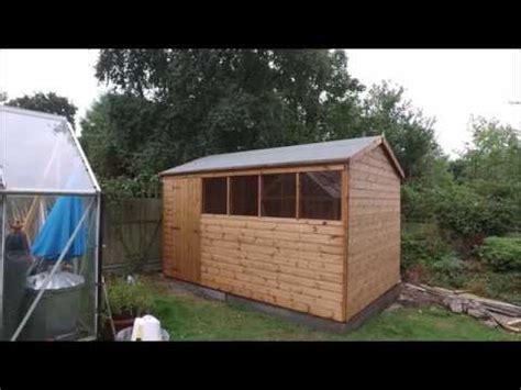 reversed apex garden shed  gorilla garden sheds