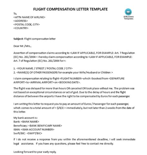 cancellation letter due to weather how to get compensation for delayed flight according to