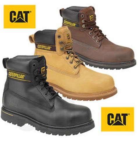Caterpillar S7 Safety Boot mens caterpillar holton steel toe cap safety boots cat 6 quot work boots size 6 13 ebay