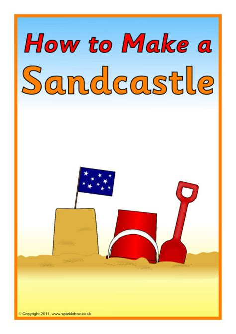 sandcastle instructions sb sparklebox