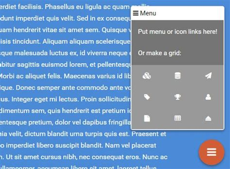 material design menu jquery material design floating action button with jquery kc