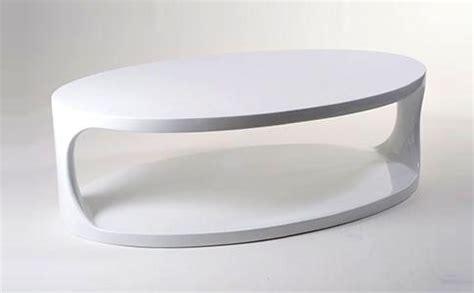 white oval bottom shelf coffee table