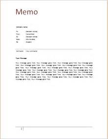 Ms word memo template document templates