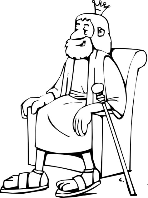 coloring pages about king david david becomes king coloring page