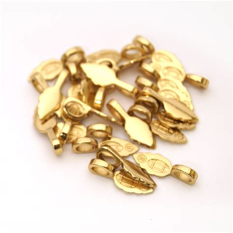 bails for jewelry large 18k gold plated jewelry bails 25 pack and clasps