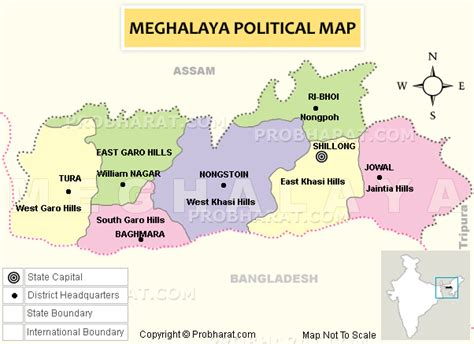 Meghalaya Map..Meghalaya Districts Map Political Map of