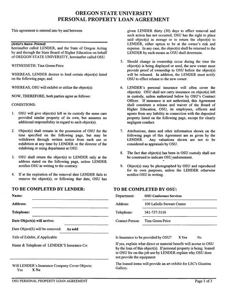 endorsement agreement template free printable personal loan contract form generic