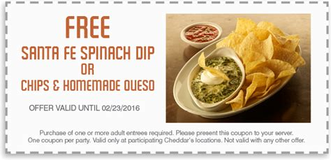 Spinach Coupons Printable cheddars spinach dip coupon