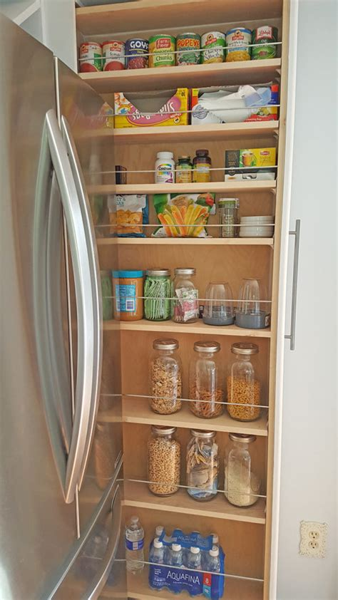 organized slide out pantry