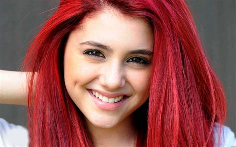 whats wrong with ariana grande hair ariana with red hair ariana grande wallpaper 1920x1200