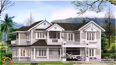 colonial style home design in kerala colonial style house plans in kerala youtube