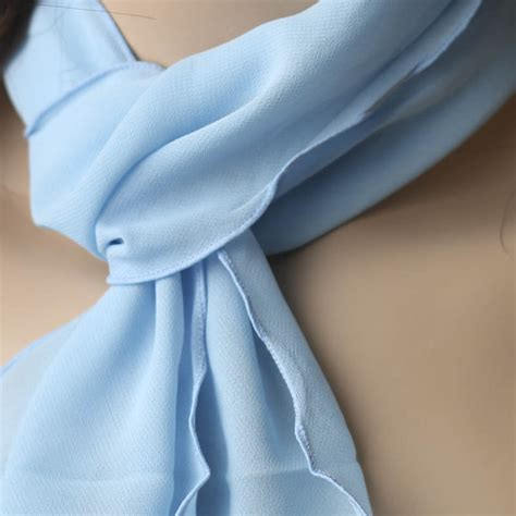 light blue scarf for light blue chiffon scarf hair accessories basic craft