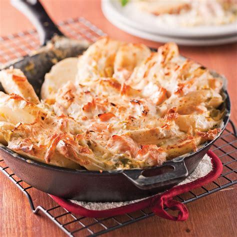 cuisine poireaux tartiflette au saumon et poireaux recettes cuisine et