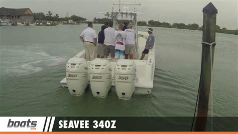 sea vee boats youtube seavee 340z first look video youtube