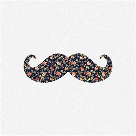 Girly Mustache Wallpaper | funny girly mustache pink vintage floral pattern art print