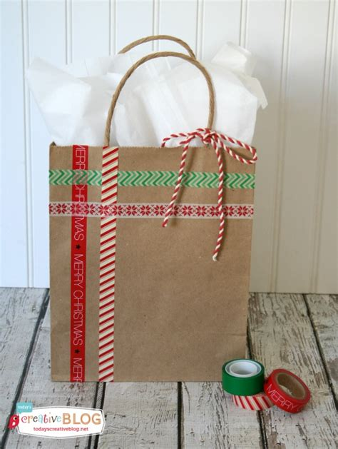 xmas decorated brown paper bags easy diy gift wrap today s creative
