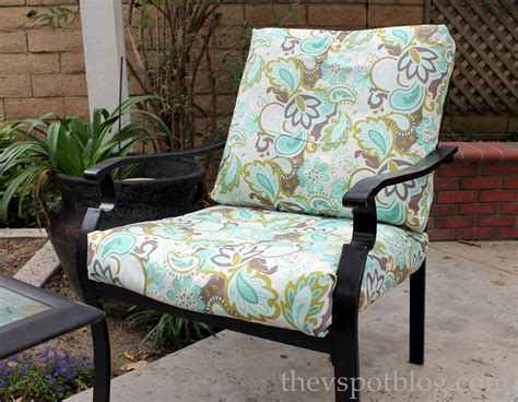 outdoor seat cushion fabric no sew project how to recover your outdoor cushions using