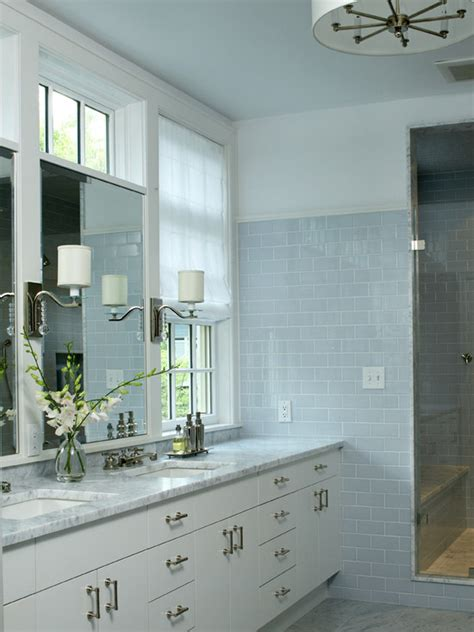 Blue Tile Bathroom Ideas by Blue Subway Tile Transitional Bathroom Lda Architects