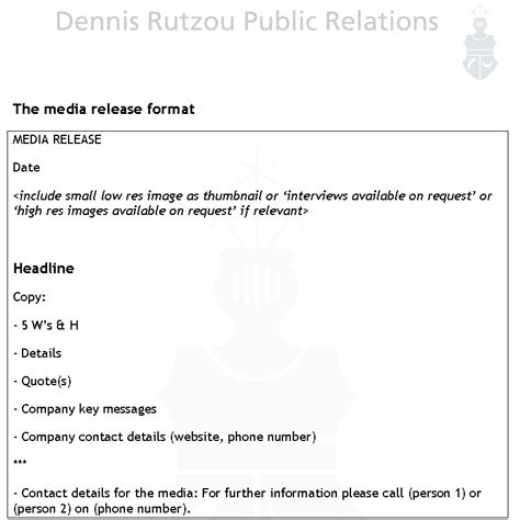 media release template how to write a media release pr