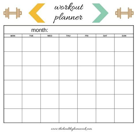 printable exercise planner free workout planner printables blog dandk