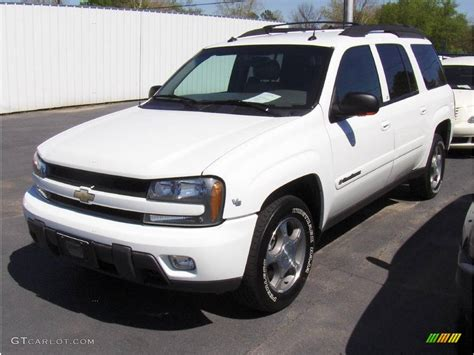 chevrolet trailblazer white 2004 summit white chevrolet trailblazer ext lt 4x4