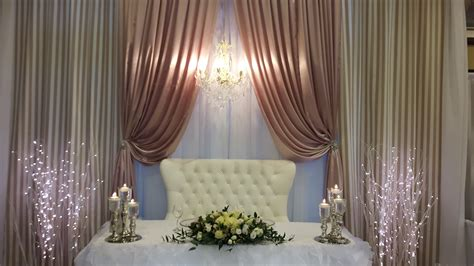 Wedding Backdrop With Chandelier by Backdrops Events Decor