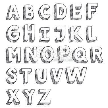 Letter Drawings Vector Drawing Of An Sans Serif Alphabet Capital Letters Sans Serif Serif And