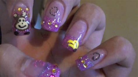 20 mini nail art tutorials youtube monkey nail art tutorial youtube