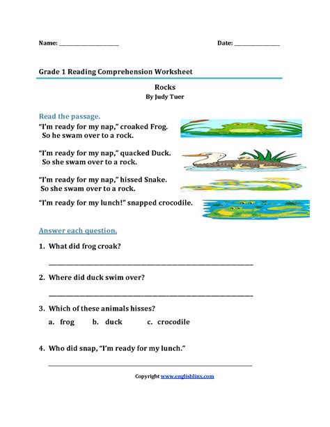 Beginning Reading Worksheets by Reading Worksheets Grade Reading Worksheets