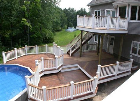 two level backyard 1000 ideas about two level deck on pinterest tiered