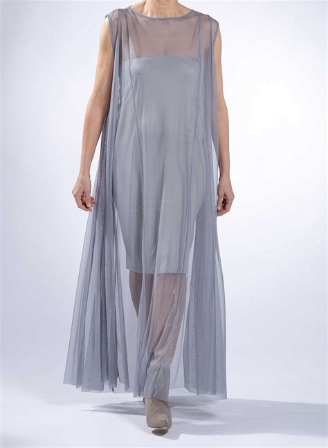 Sleeveless Tulle Dress dress river sleeveless maxi tulle