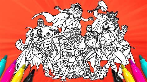 marvel superheroes comics coloring set avengers
