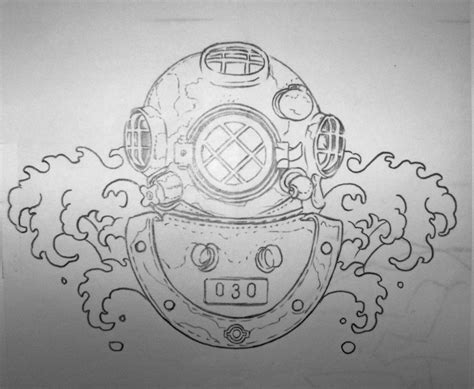 diving helmet tattoo designs pin diving helmet tattoos on