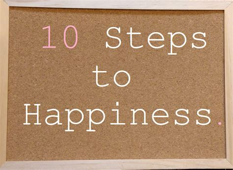 Ten Steps To Happiness by Laurabee