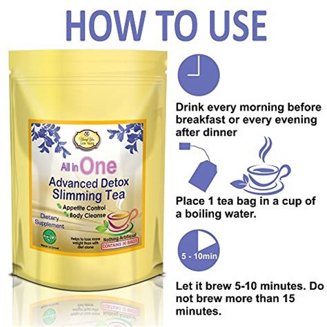 How To Detox Your Faster by All In One Detox Tea Appetite Diet Tea For Weight