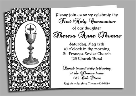 first holy communion invitation first communion invitation first holy communion invitation printable or printed with free